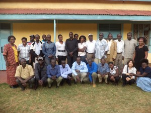 Cynthia Kimani and the participants of the Research4Life trainings that she facilitates at KEMRI in Kenya